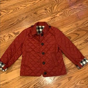 Burbarry girls jacket size 8 very good condition .